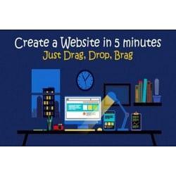 €9 Design Your Own Drag & Drop Website - No Coding!