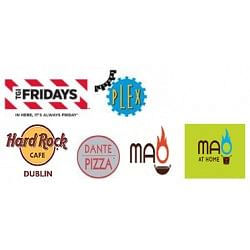 25% Off TGI Fridays Vouchers. Includes: Hard Rock Cafe, Leisure Plex, Dante Pizza, Mao and Mao at Home